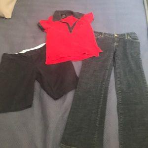 Pants, short and Polo shirt